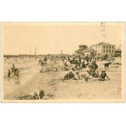 carte postale ancienne 34 PALAVAS-LES-FLOTS. Plage 1945