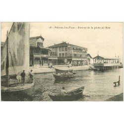 carte postale ancienne 34 PALAVAS-LES-FLOTS. Rentrée Pêche au Thon