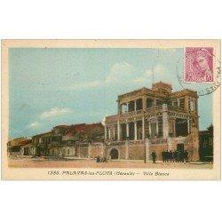 carte postale ancienne 34 PALAVAS-LES-FLOTS. Villa Blanca 1939