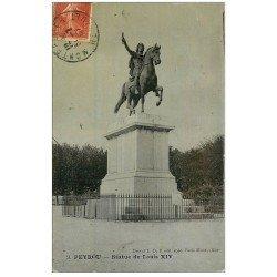 carte postale ancienne 34 PEYROU. Statue Louis XIV 1907