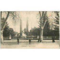 carte postale ancienne 34 PEZENAS. Square Molière