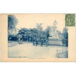 carte postale ancienne 34 PEZENAS. Square Molière 1924