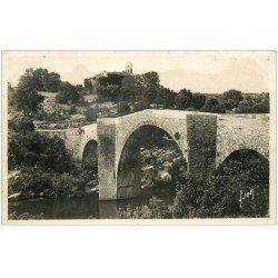carte postale ancienne 34 SAINT-ETIENNE D'ISSANSAC. Eglise et Pont carte phto