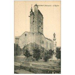 carte postale ancienne 34 SERVIAN. Eglise