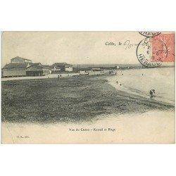carte postale ancienne 34 SETE CETTE. Plage Casino Kursaal 1906