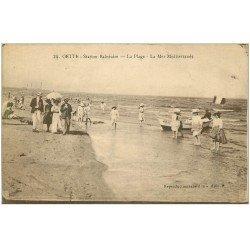 carte postale ancienne 34 SETE CETTE. Plage Méditerranée
