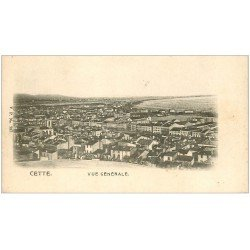 carte postale ancienne 34 SETE CETTE. Vue générale vers 1900
