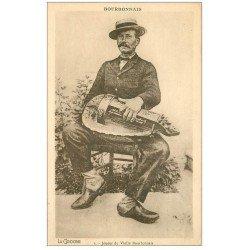 carte postale ancienne 03 BOURBONNAIS. Joueur de Vielle musicien