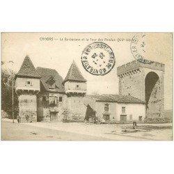 carte postale ancienne 46 CAHORS. Barbacane et Tour des Pendus 1923
