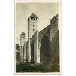 carte postale ancienne 46 CAHORS. Le Pont Valentré 1942 Carte Photo