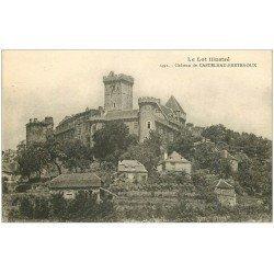 carte postale ancienne 46 CASTELNAU-BRETENOUX. Château 1922