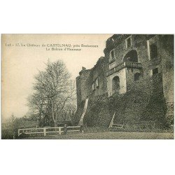 carte postale ancienne 46 CASTELNAU-BRETENOUX. Château Balcon