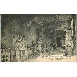 carte postale ancienne 46 CASTELNAU-BRETENOUX. Château Galerie des pierres