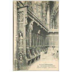 carte postale ancienne 46 CASTELNAU-BRETENOUX. Eglise Stalle droite 1922