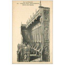 carte postale ancienne 46 CASTELNAU-BRETENOUX. Eglise Stalles