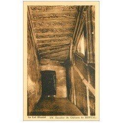 carte postale ancienne 46 CHATEAU DE MONTAL. Escalier