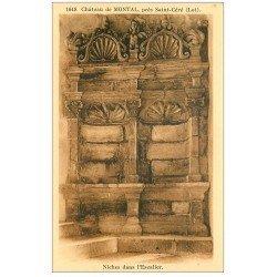 carte postale ancienne 46 CHATEAU DE MONTAL. Niches Escalier
