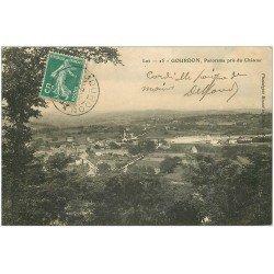 carte postale ancienne 46 GOURDON. Panorama