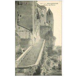 carte postale ancienne 46 ROCAMADOUR. Escalier des Pélerins