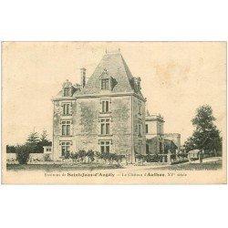 carte postale ancienne 17 AUTHON. Le Château 1905