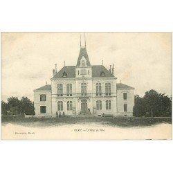 carte postale ancienne 17 BURIE. Hôtel de Ville 1905