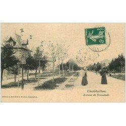 carte postale ancienne 17 CHATELAILLON. Avenue de Cronstadt 1908
