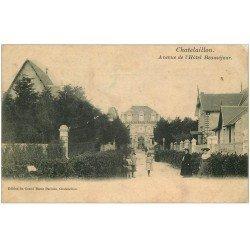 carte postale ancienne 17 CHATELAILLON. Avenue de l'Hôtel Beauséjour 1907