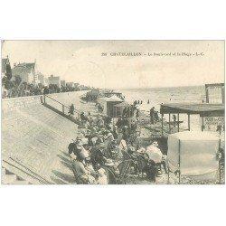 carte postale ancienne 17 CHATELAILLON. Boulevard et Plage 1913