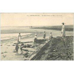 carte postale ancienne 17 CHATELAILLON. Brise-Lames et l'Epi 1907