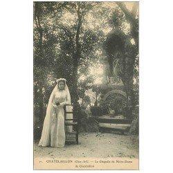 carte postale ancienne 17 CHATELAILLON. Communiante Chapelle de Notre-Dame