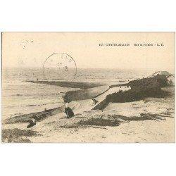 carte postale ancienne 17 CHATELAILLON. Falaise 1923