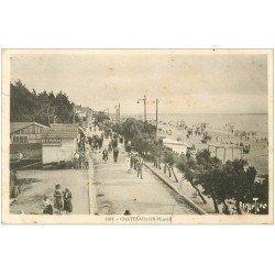 carte postale ancienne 17 CHATELAILLON. La Plage 1938