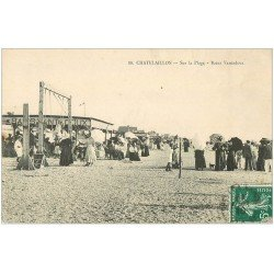 carte postale ancienne 17 CHATELAILLON. La Plage Bains Vantadou 1910
