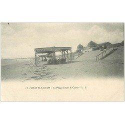 carte postale ancienne 17 CHATELAILLON. Plage devant Casino vers 1900