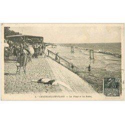 carte postale ancienne 17 CHATELAILLON. Plage et Bains 1931