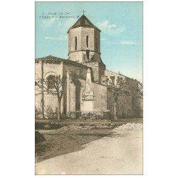 carte postale ancienne 17 CLAM. Eglise et Monument