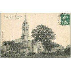 carte postale ancienne 17 Environs de Royan. Eglise de Saint-Georges 1910 animation