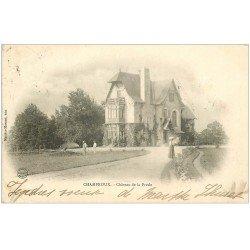 carte postale ancienne 03 CHAMPROUX. Château de la Presle 1903. Jardiniers (léger pli coin)...