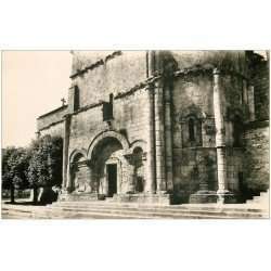 carte postale ancienne 17 GEMOZAC. Portail de l'Eglise. Cpa Photo