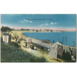 carte postale ancienne 17 ILE DE RE. La Plage