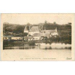carte postale ancienne 03 CHATEL-DE-NEUVRE. Château de Saint-Laurent (carte restauré et timbre absent)...