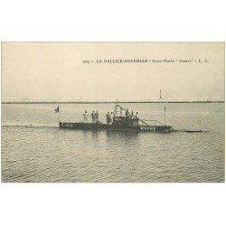 "carte postale ancienne 17 LA PALLICE-ROCHELLE. Sous-Marin """" Castor """""