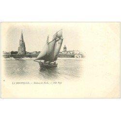 carte postale ancienne 17 LA ROCHELLE. Bateaux de Pêche 1901
