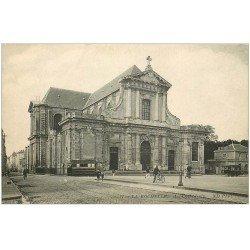 carte postale ancienne 17 LA ROCHELLE. La Cathédrale et Tramways