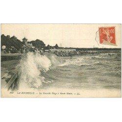 carte postale ancienne 17 LA ROCHELLE. La Plage Nouvelle 1915