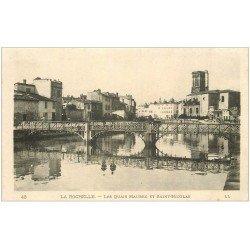 carte postale ancienne 17 LA ROCHELLE. Les Quais Maubec et Saint-Nicolas
