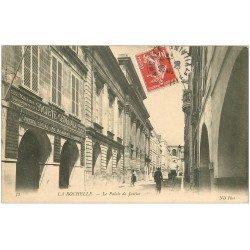 carte postale ancienne 17 LA ROCHELLE. Palais de Justice et Banque Société Générale 1908
