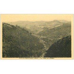 carte postale ancienne 03 CHATELMONTAGNE. Vallée de la Besbre
