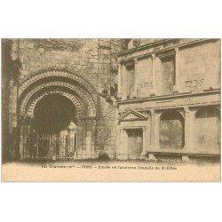 carte postale ancienne 17 PONS. Entrée Chapelle de Saint-Gilles 1926