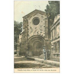 17 PONS. Ouvriers Ferronniers sur les Grilles Hôtel des Monnaies et Chapelle Saint-Gilles. Carte toilée 1907